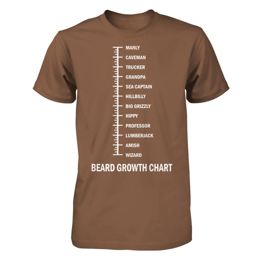 Epic beard growth chart chestnut gildan short sleeve tee also represent rh
