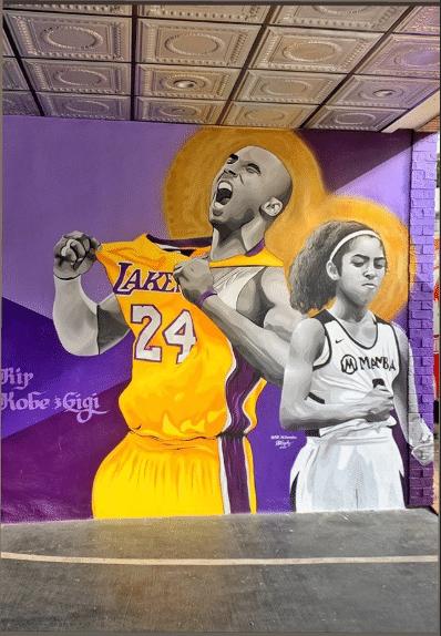 Kobe And Gigi Drawing : drawing, Vanessa, Bryant, Shares, Photos, Untouched, Kobe-Gigi, Murals, George, Floyd, Protests