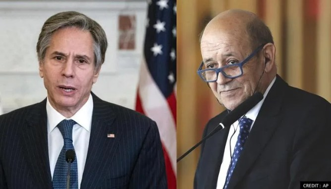 Antony Blinken, France's Le Drian Discuss EU-US Joint Efforts Against Russia, China