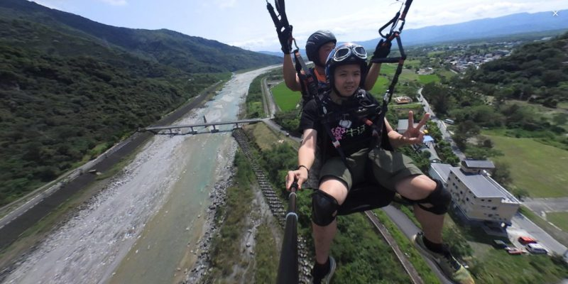 花蓮》花蓮飛行傘|高空全景360度俯瞰壯麗的花東縱谷 -明利WUMA飛行傘