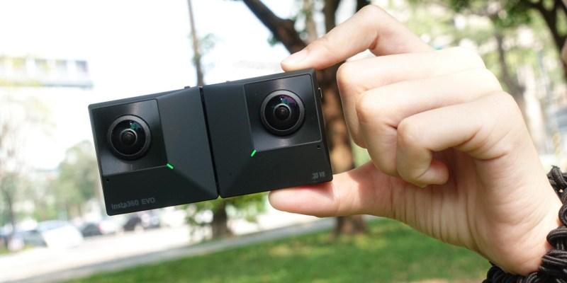 評測》 Insta360 EVO 折疊式180度 3D影像 與360度全景功能|開箱評測