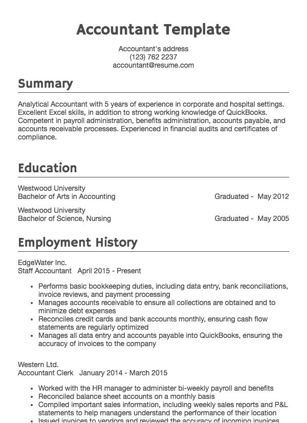 How To Write Ms Office Skills In Resume Accounting Resume Sample Accountant Drafted Examples Resume