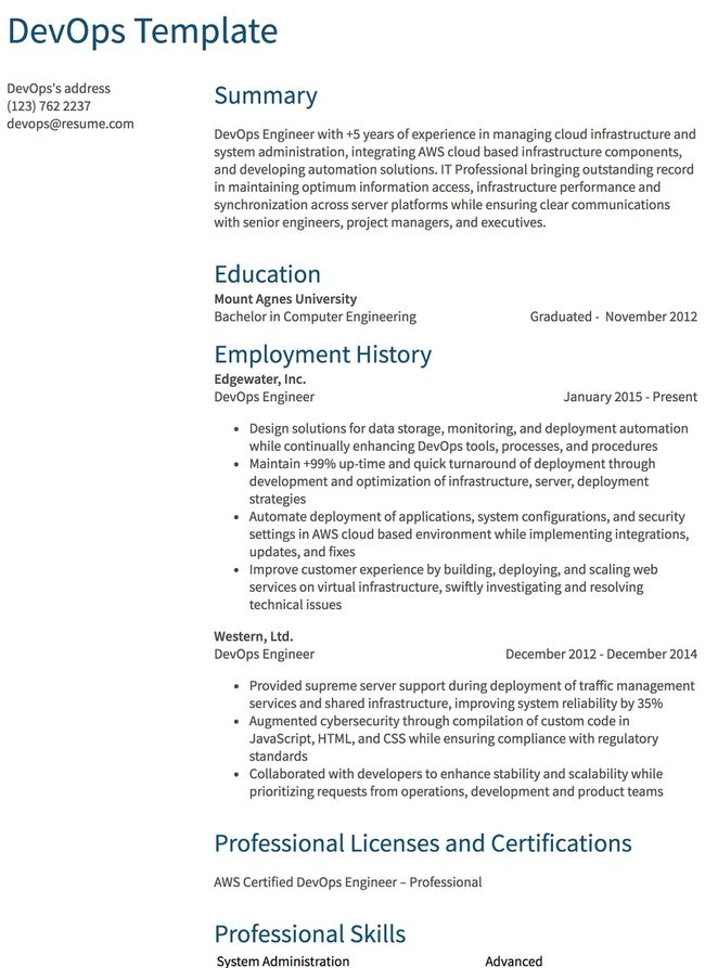 Cover Letter System Engineer Resume