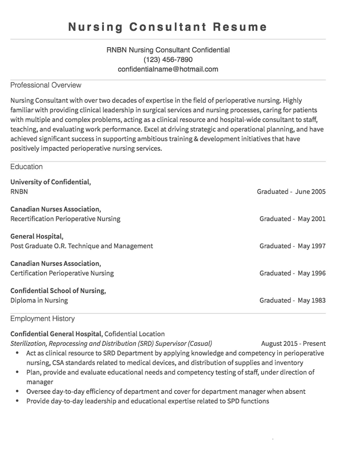 Resume Samples 125 Free Example Resumes & Formats