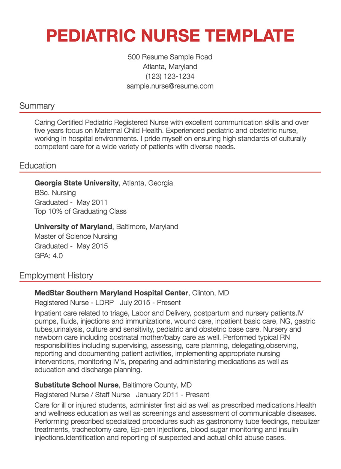 Nursing Resumes Samples 30 Nursing Resume Examples Samples Written By Rn Managers