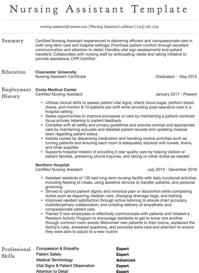 Clinical Nurse Specialist Resume Example  Resumecom