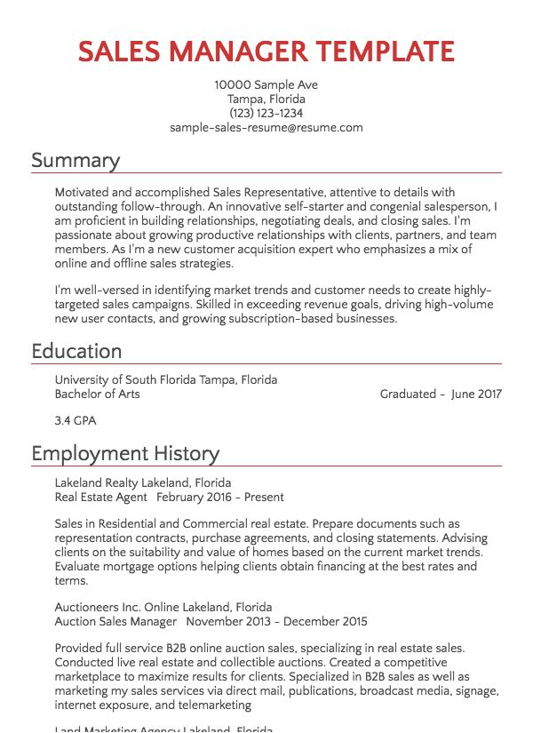 Resume Samples 125 Free Example Resumes  Formats  Resumecom