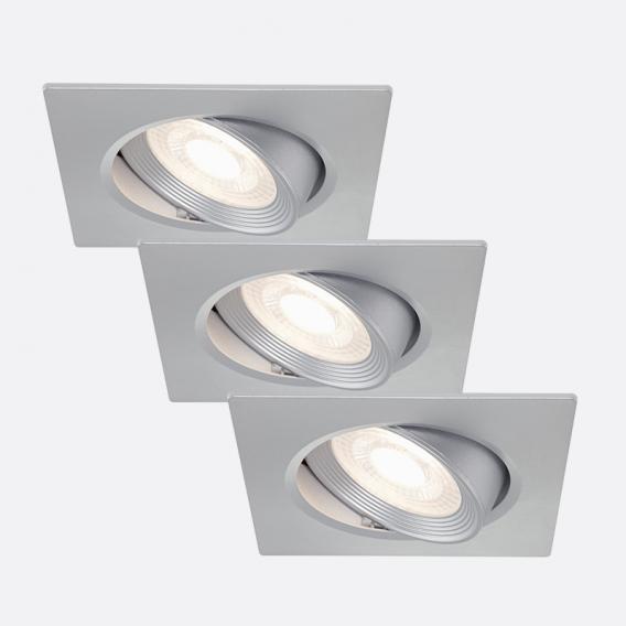 briloner set of 3 led recessed lights square tiltable