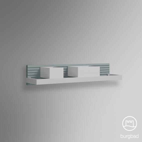 burgbad fiumo etagere murale avec rail en metal bleu glace soft mat