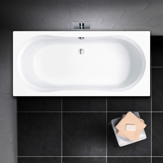 premium 100 duo baignoire rectangulaire longueur 180 cm l 80 cm profondeur interieure 43 cm