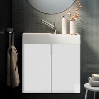 Cosmic fancy Waschtisch mit Unterschrank mit 2 Türen weiß ...