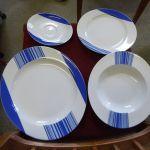 4er Set Geschirr Weiss Blau Bs Porcelain Kaufen Auf Ricardo