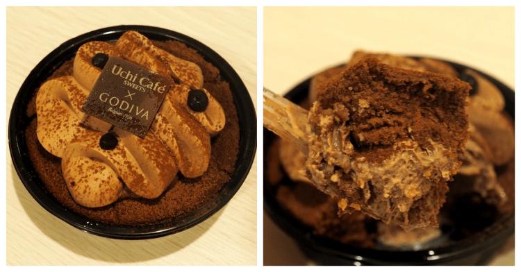 日本超商美食 Lawson Uchi Café×GODIVA 巧克力蛋糕卷x生巧克力大福