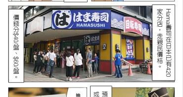台北 中山 Hama壽司 はま寿司 日本知名平價 旋轉壽司 $40一盤就可吃到的超鮮壽司