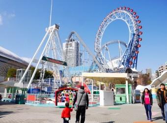 東京後樂園 離上野最近的遊樂園 免費入場 還可以在摩天輪上唱卡拉ok!