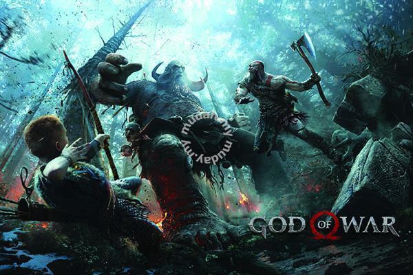 god of war ps4 poster