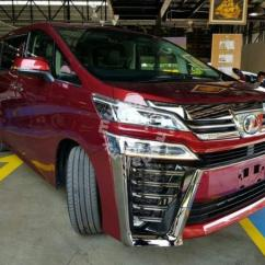 All New Toyota Vellfire 2018 Grand Avanza 2017 Silver Facelift Conversion Front Kit Car Accessories Shop Safely Tip