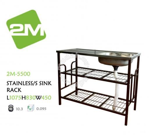 2m 5500 stainless steel sink rack furniture decoration for sale in old klang road kuala lumpur mudah my