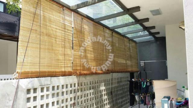varnish outdoor bamboo blinds