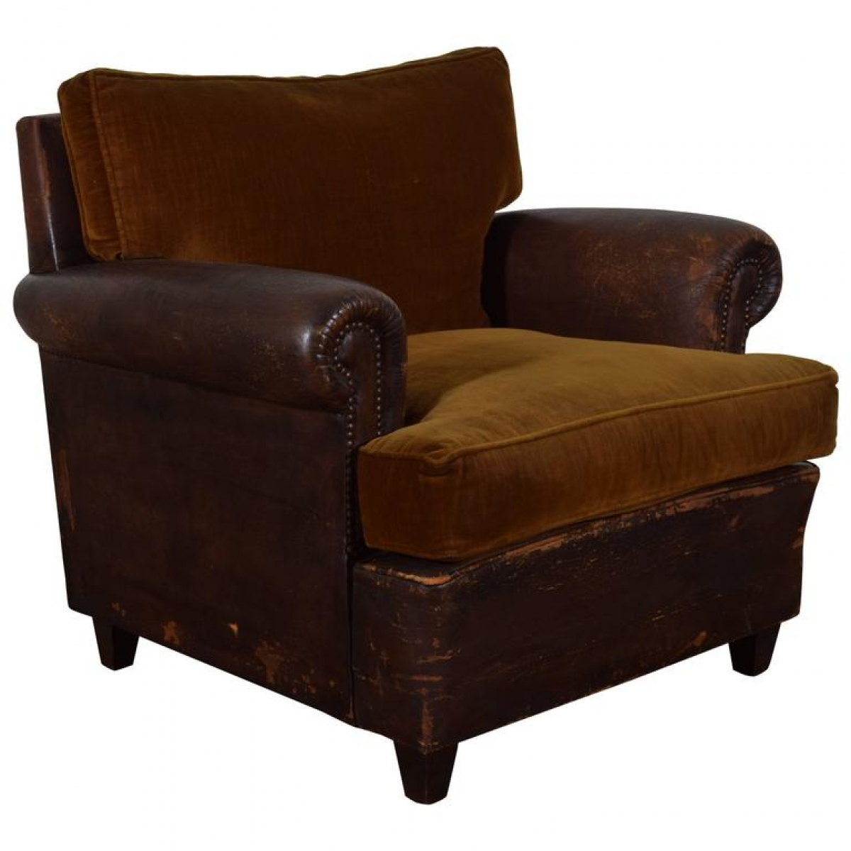 Velvet Club Chair Leather Upholstered And Velvet Club Chair Robuck Co