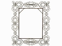 Large Wrought Iron Mirror / robuck.co