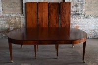 Large Mahogany Dining Table, Full Apron with 6 Leaves