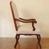 folding umpire chair gaiam exercise ball carved walnut and upholstered fauteuil / robuck.co