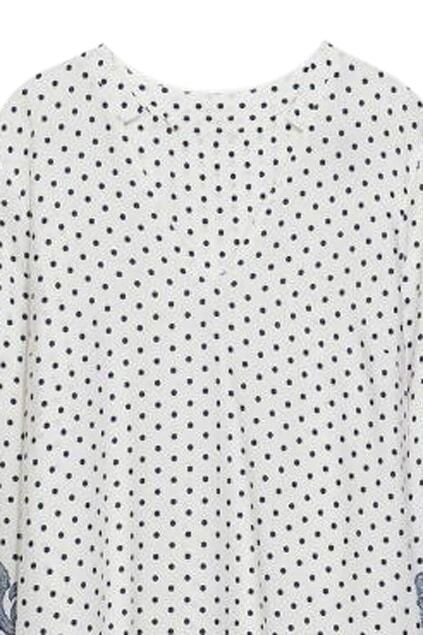 ROWME Polka Dots and Floral Print Loose DressFor Women-romwe