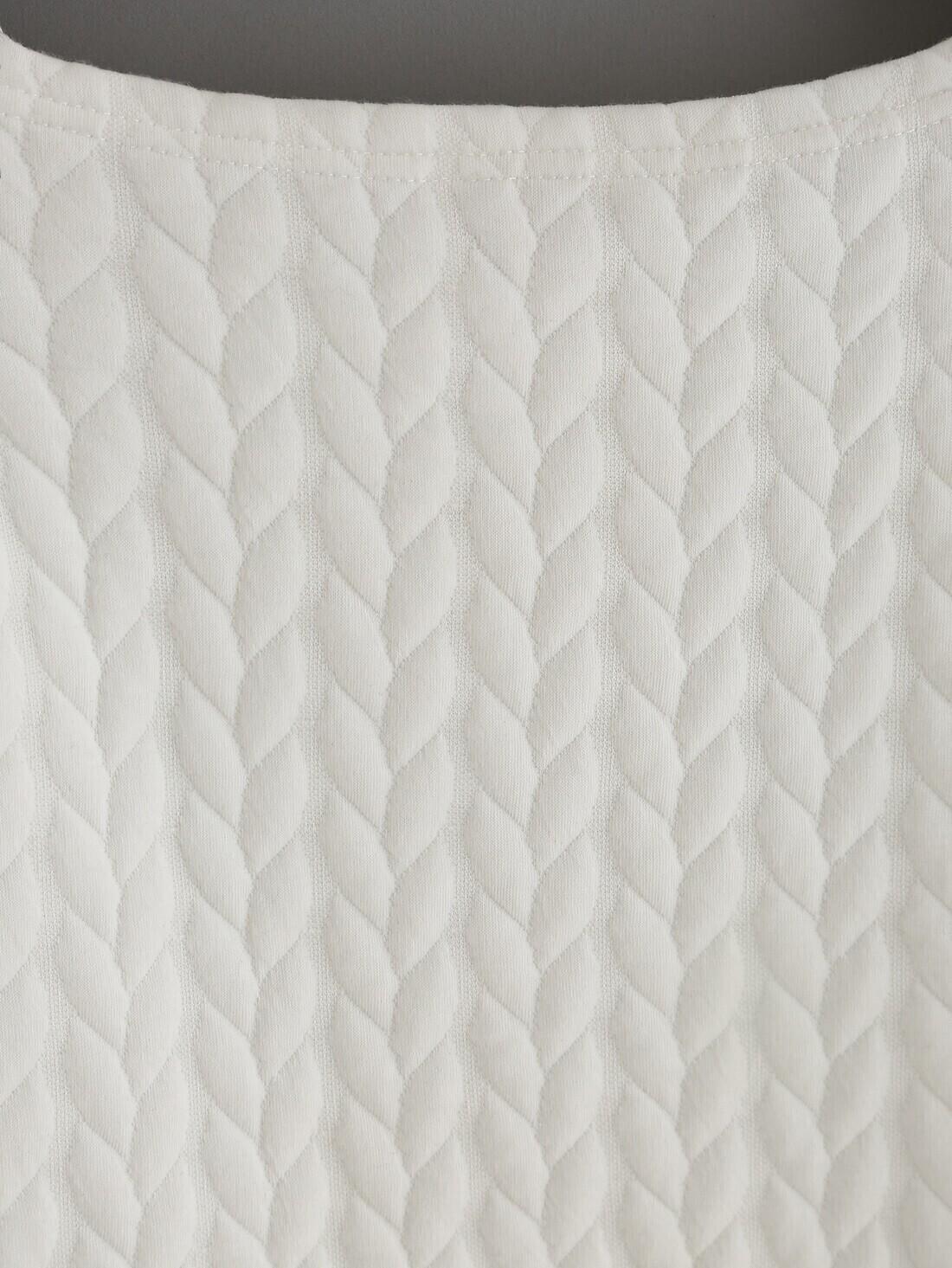 Cold Shoulder Twist Pattern White Dressfor Women Romwe