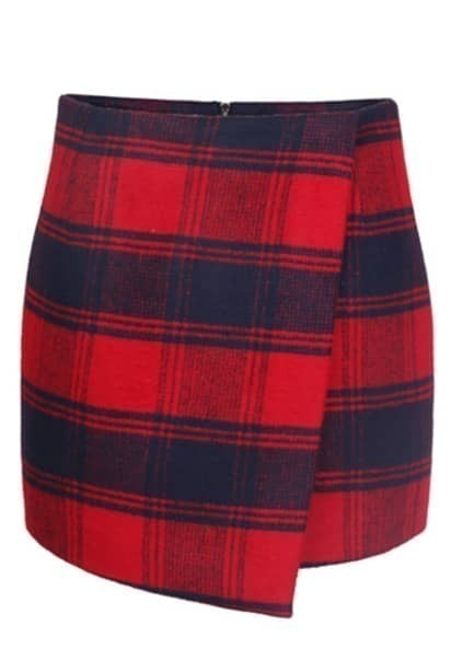 Check Print Bodycon Skirt