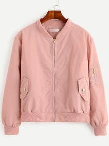 Jacket bomber con cremallera - rosa