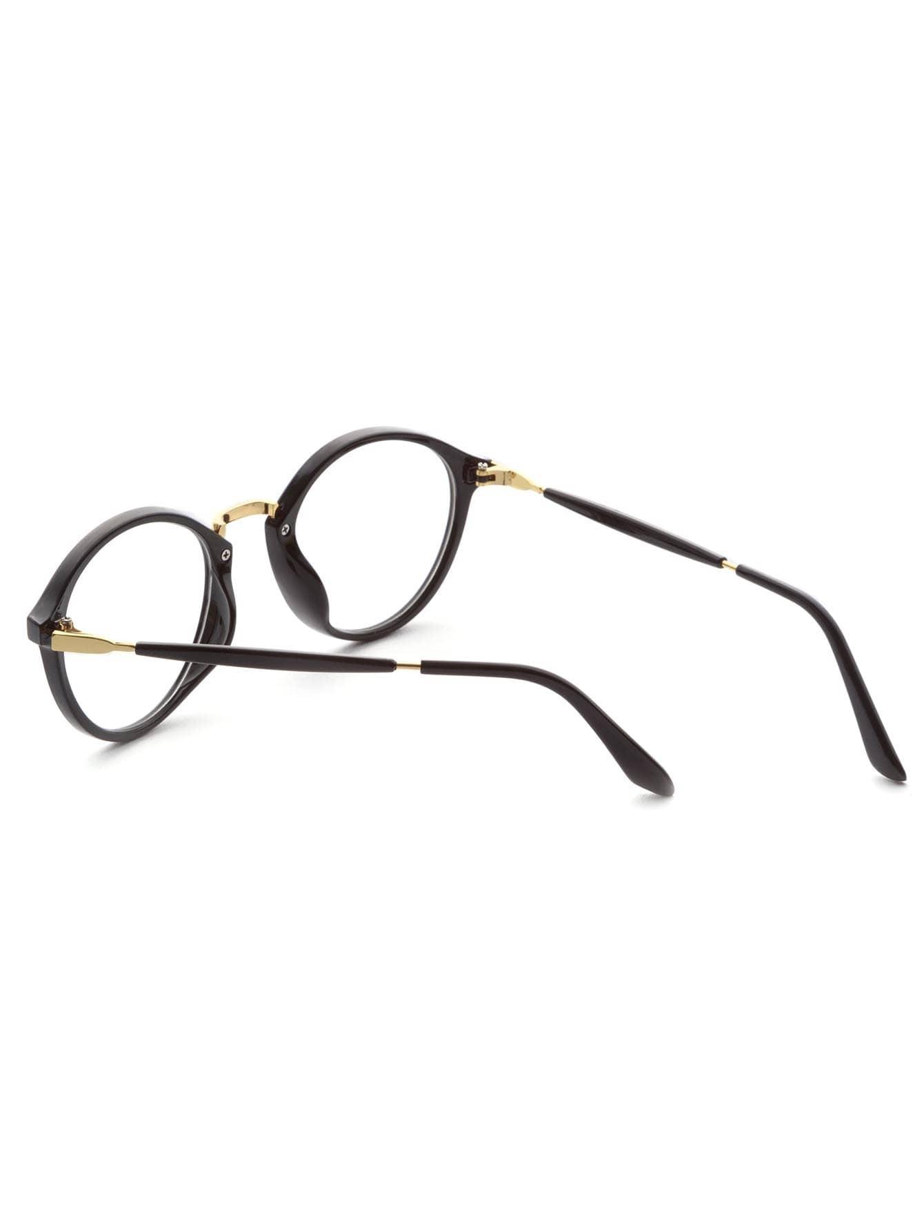 Black Frame Gold Trim Glasses