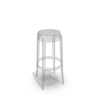 Charles Ghost bar stool - Design and Decorate Your Room in 3D