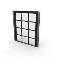 Steel frame window - Design and Decorate Your Room in 3D