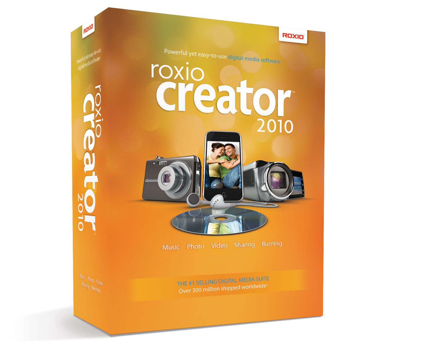 Roxio - New Roxio Creator 2010 Adds Breakthrough Video Enhancements