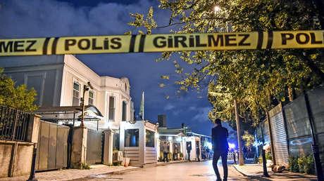 La residencia del cónsul saudita en Estambul se ve acordonada por la Policía turca, el 16 de octubre de 2018.