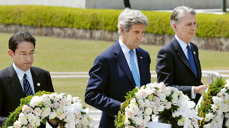 Kerry offers no Hiroshima apologies during 1st-ever visit by US state sec. to bombing memorial