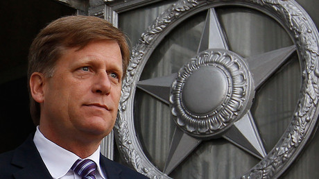 'Let's do it! We are waiting for the pilot!' RT offers Michael McFaul his own show