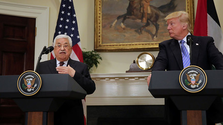 Trump, Abbas express optimism about reaching 'historic peace treaty' with Israel in first meeting