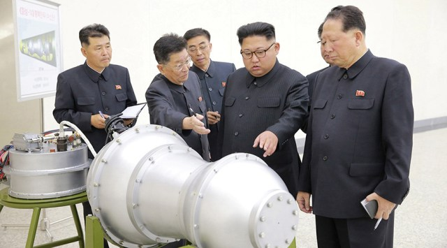 North Korea says has developed 'advanced hydrogen bomb' that can be fitted on ICBM
