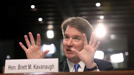 FILE PHOTO. US Supreme Court nominee judge Brett Kavanaugh testifies on Capitol Hill in Washington © Chris Wattie