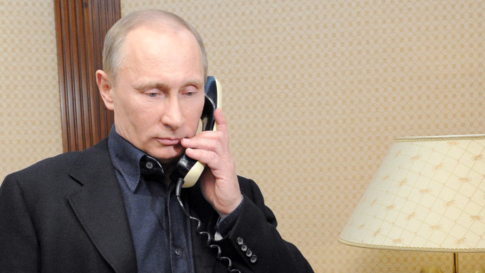 Putin on the phone