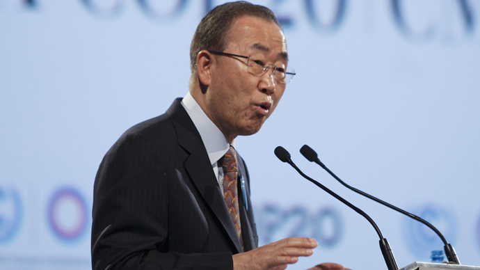United Nations Secretary-General Ban Ki-moon (Reuters / Enrique Castro-Mendivil)