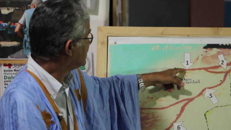 Aziz Haidar, presidente de la Asociación Saharaui de Víctimas de Minas.