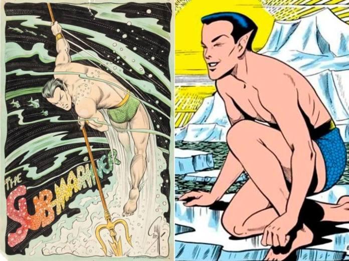 Dos versiones de Namor de su creador, Bill Everett