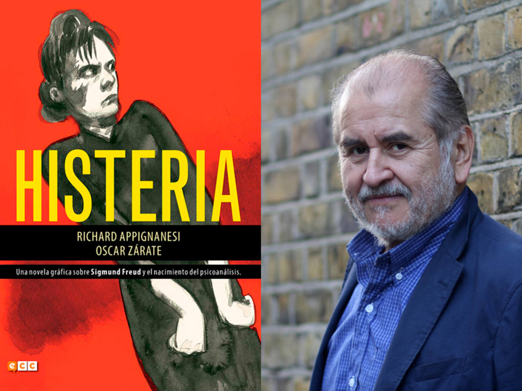 Portada de 'Histeria' y retrato de Oscar Zárate por Ana Portnoy