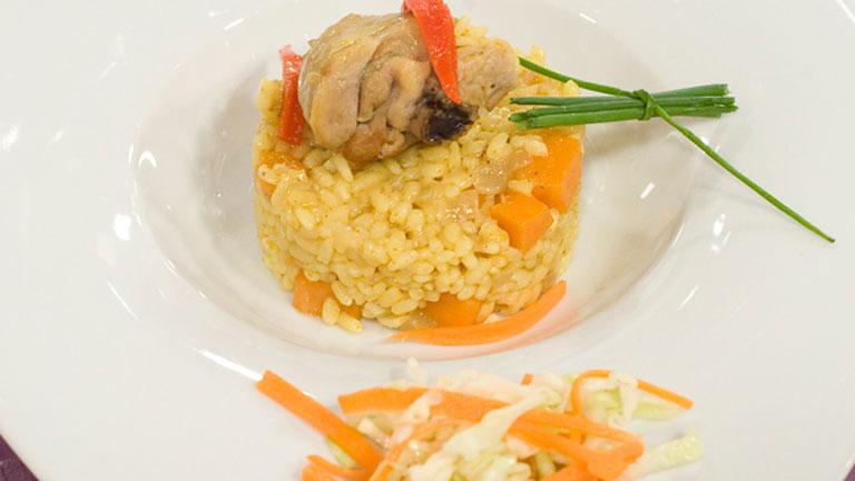 Receta de arroz con pollo y curry