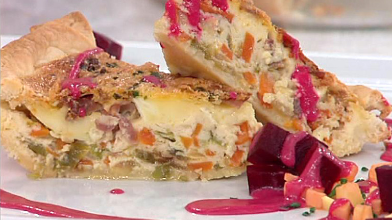 Tarta de verduras con queso y jamn 07122011  RTVEes