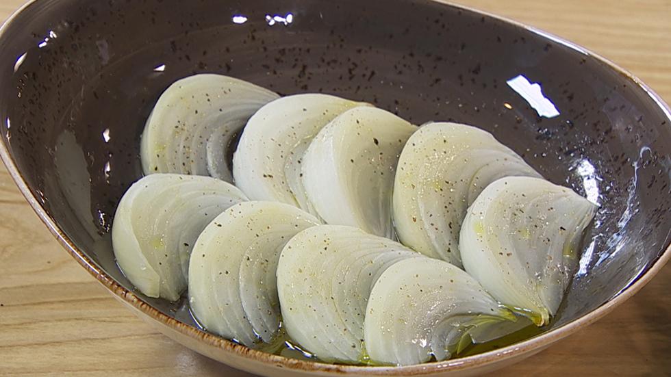 Torres en la cocina  Receta de cebolla a la sal