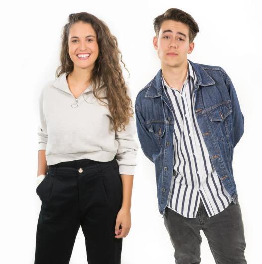 Les présentateurs sont Maja Pinterič et Bojan Cvjetićanin.  Photo: SOJ RTV SLO / Žiga Culiberg